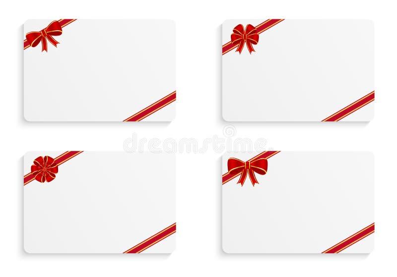 διάνυσμα απεικόνισης δώρων καρτών διανυσματική απεικόνιση