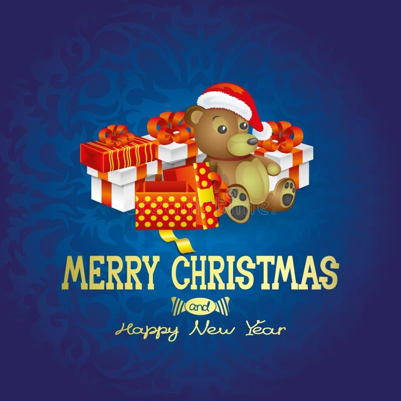 διάνυσμα Αφίσα Χριστουγέννων απεικόνιση αποθεμάτων