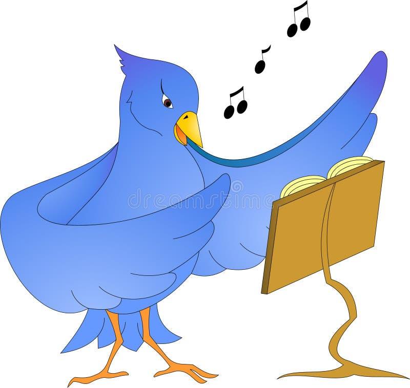 διάνυσμα κειμένων τραγουδιού θέσεων απεικόνισης χαιρετισμού καρτών πουλιών σας στοκ εικόνα