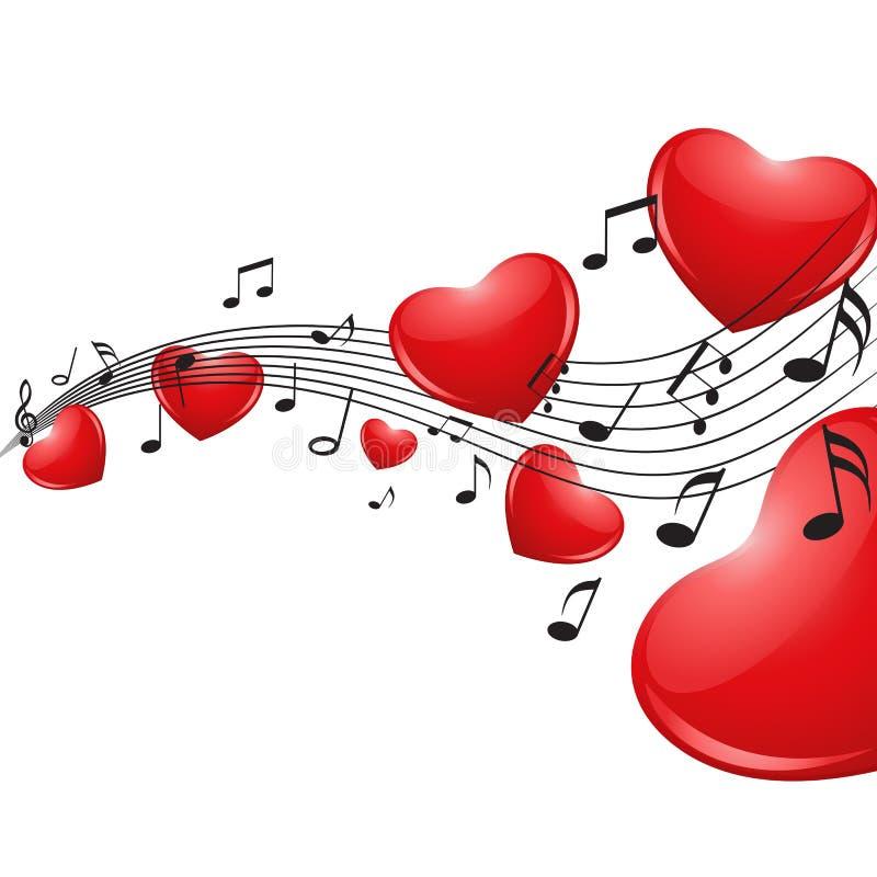 διάνυσμα μουσικής αγάπης εικονιδίων ελεύθερη απεικόνιση δικαιώματος