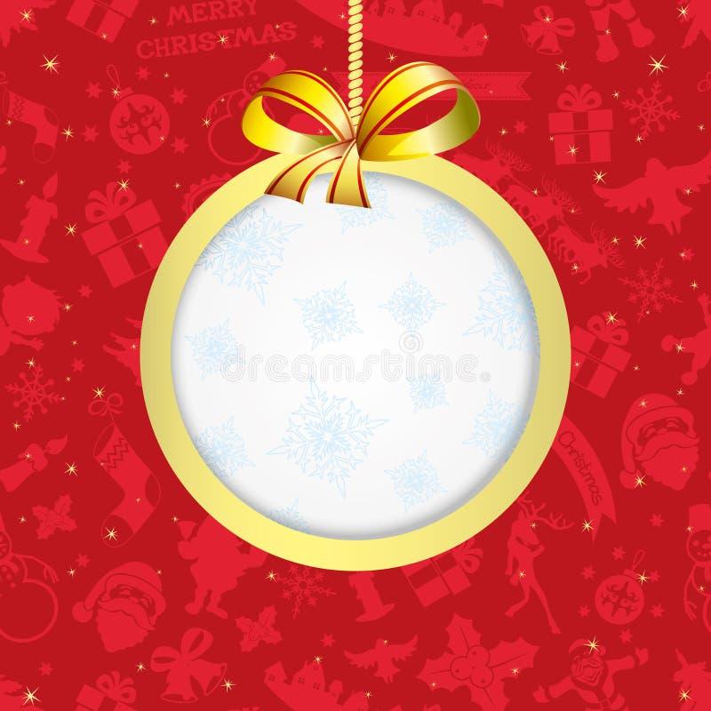 διάνυσμα μπλε πλαίσιο Χριστουγέν&nu απεικόνιση αποθεμάτων