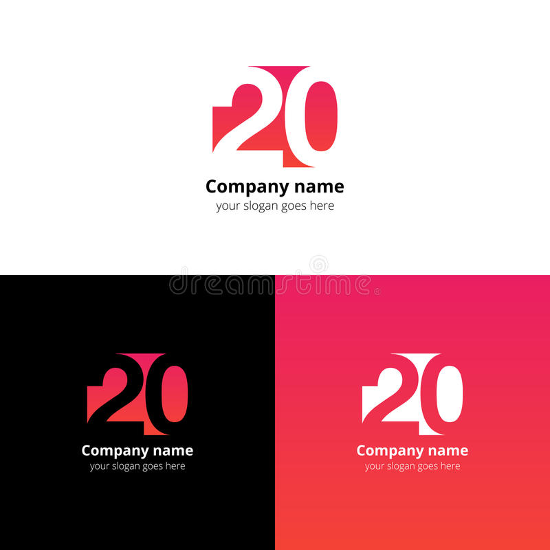 διάνυσμα 12 λογότυπων αριθμών εικονιδίων με τη χρυσή έννοια ετών χρώματος διανυσματική απεικόνιση