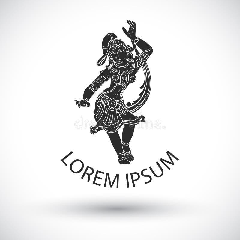 διάνυσμα λογότυπων χορευτών απεικόνιση αποθεμάτων