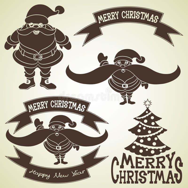 διάνυσμα στοιχεία σχεδίου Χριστουγέννων που τίθενται ελεύθερη απεικόνιση δικαιώματος