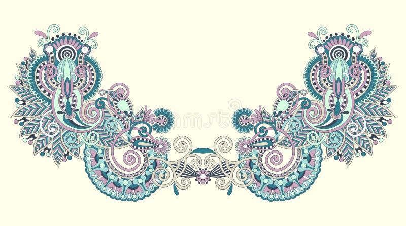 διάνυσμα neckline απεικόνισης μόδας κεντητικής διανυσματική απεικόνιση