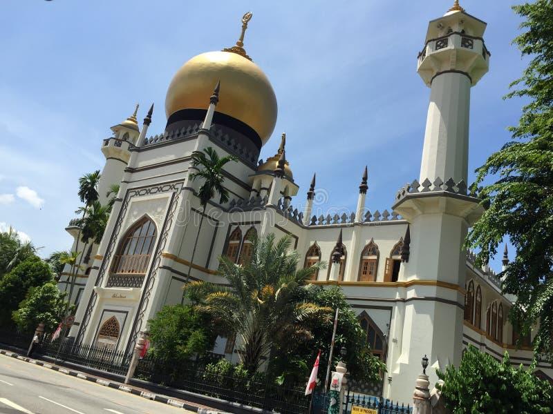 διάσημο κτήριο σε Σινγκαπούρη στοκ φωτογραφία