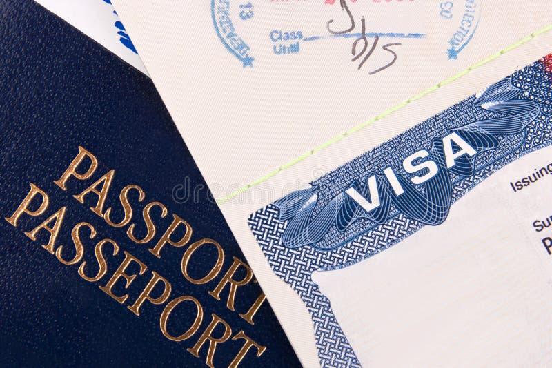 διαβατήριο εμείς θεώρηση στοκ φωτογραφία