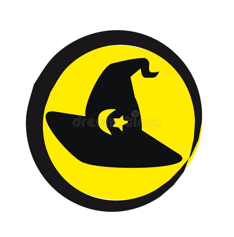 διαθέσιμη διανυσματική μάγισσα απεικόνισης καπέλων στοκ φωτογραφία με δικαίωμα ελεύθερης χρήσης