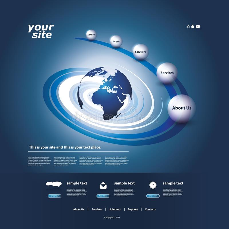 διαθέσιμος ιστοχώρος προτύπων και των δύο eps8 μορφών jpeg διανυσματική απεικόνιση