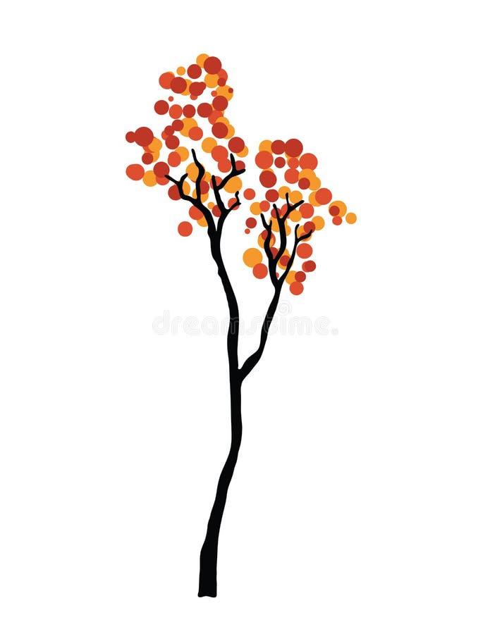 διαθέσιμο διάνυσμα δέντρων απεικόνισης φθινοπώρου διανυσματική απεικόνιση