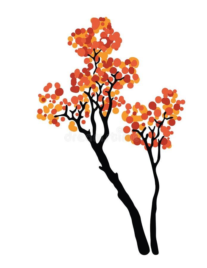 διαθέσιμο διάνυσμα δέντρων απεικόνισης φθινοπώρου ελεύθερη απεικόνιση δικαιώματος