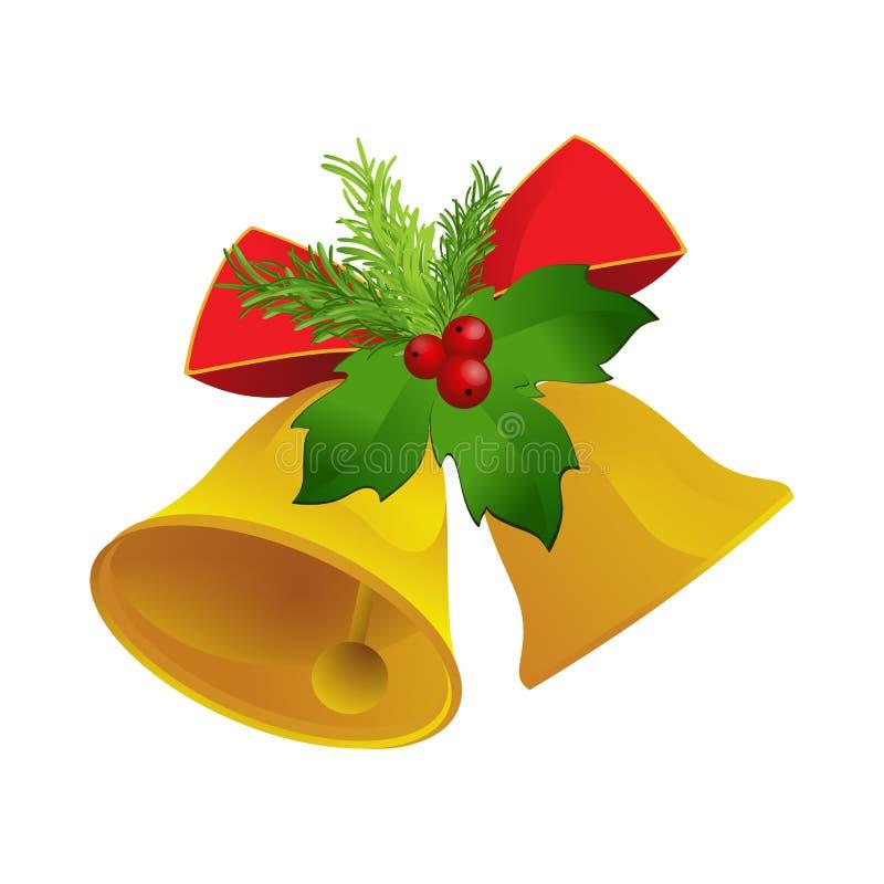 διαθέσιμο διάνυσμα απεικόνισης Χριστουγέννων κουδουνιών απεικόνιση αποθεμάτων