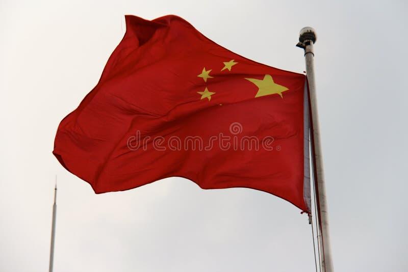 διαθέσιμο διάνυσμα ύφους γυαλιού σημαιών της Κίνας στοκ εικόνες