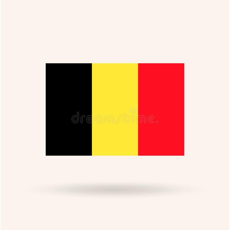 διαθέσιμο διάνυσμα ύφους γυαλιού σημαιών του Βελγίου απεικόνιση αποθεμάτων