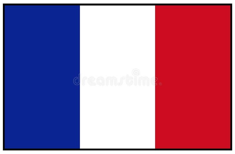 διαθέσιμο διάνυσμα ύφους γυαλιού της Γαλλίας σημαιών απεικόνιση αποθεμάτων