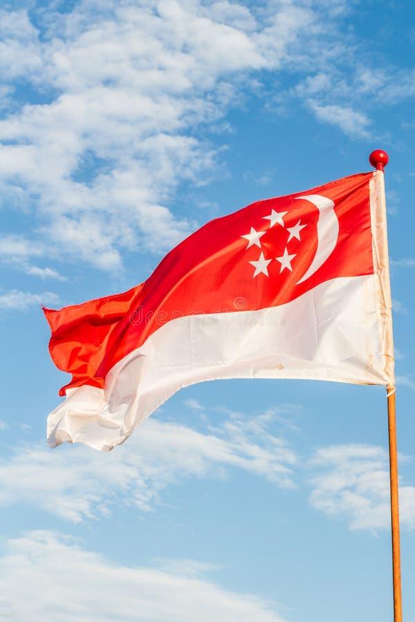 διαθέσιμο διάνυσμα ύφους Σινγκαπούρης γυαλιού σημαιών στοκ φωτογραφία