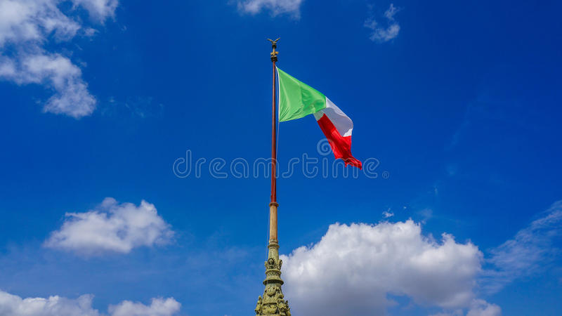 διαθέσιμο διάνυσμα ύφους της Ιταλίας γυαλιού σημαιών στοκ φωτογραφία με δικαίωμα ελεύθερης χρήσης