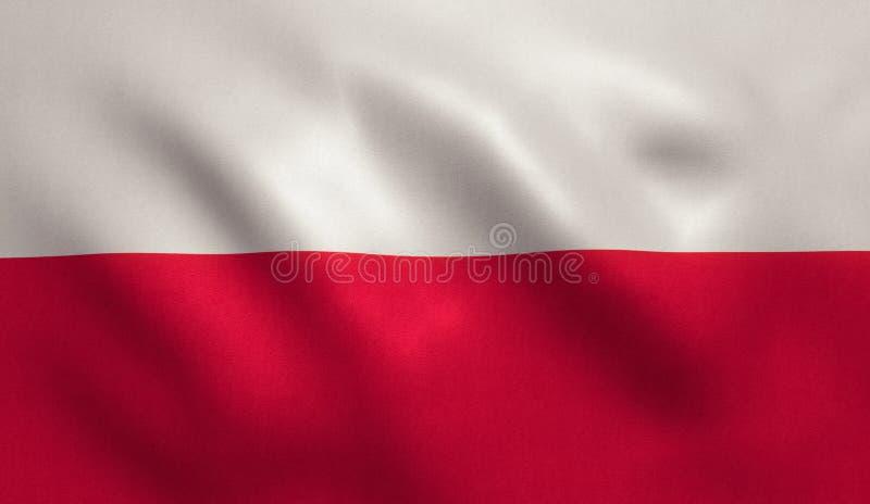 διαθέσιμο διάνυσμα ύφους της Πολωνίας γυαλιού σημαιών στοκ εικόνα