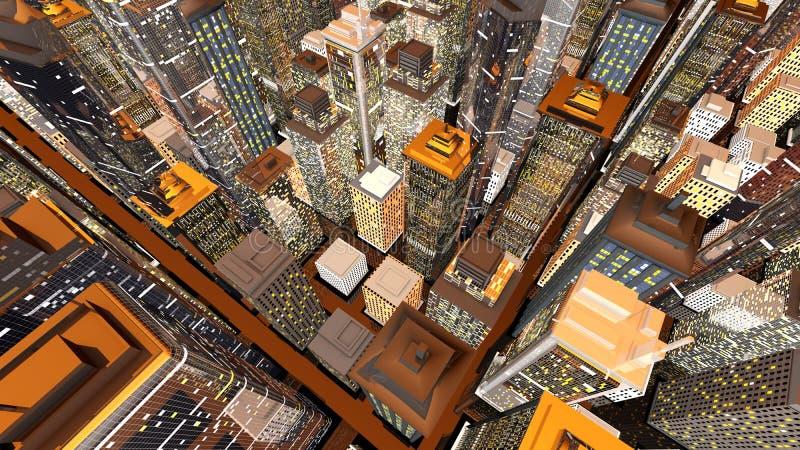 διαθέσιμο μεγάλο διάνυσμα εικονιδίων πόλεων ελεύθερη απεικόνιση δικαιώματος
