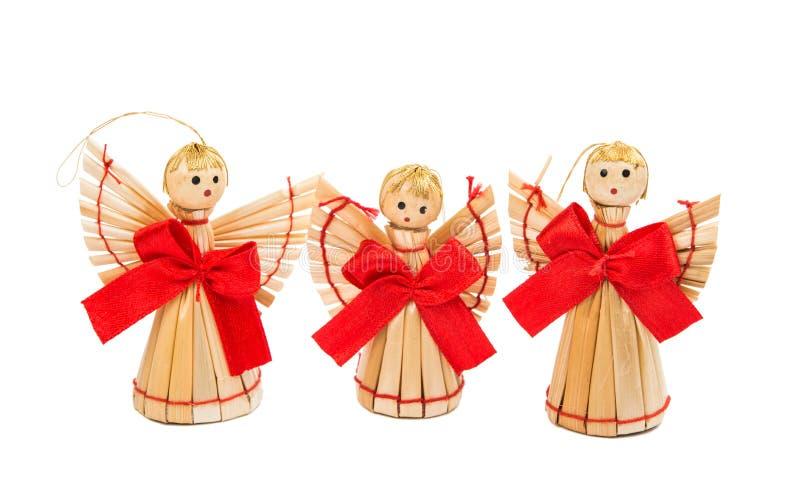 διακοσμήσεις Χριστουγέννων αχύρου στοκ εικόνες με δικαίωμα ελεύθερης χρήσης