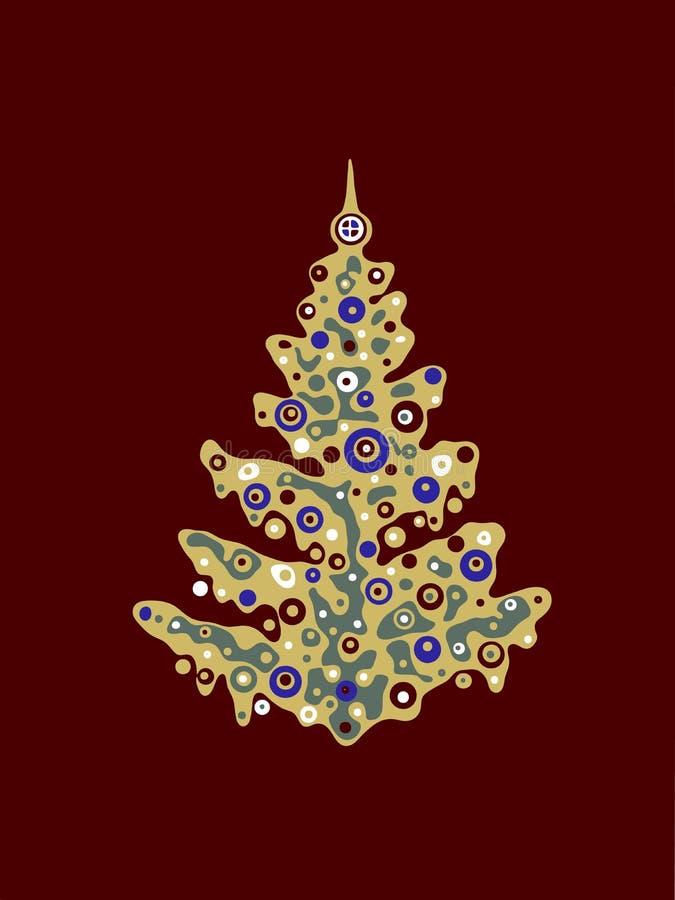 διακοσμημένο Χριστούγεννα δέντρο απεικόνισης ελεύθερη απεικόνιση δικαιώματος