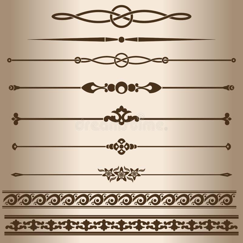 διακοσμητικές γραμμές διανυσματική απεικόνιση