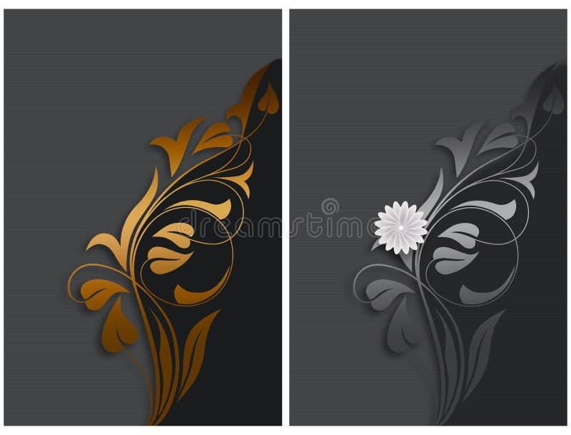 διακοσμητικός floral ανασκόπησης διανυσματική απεικόνιση