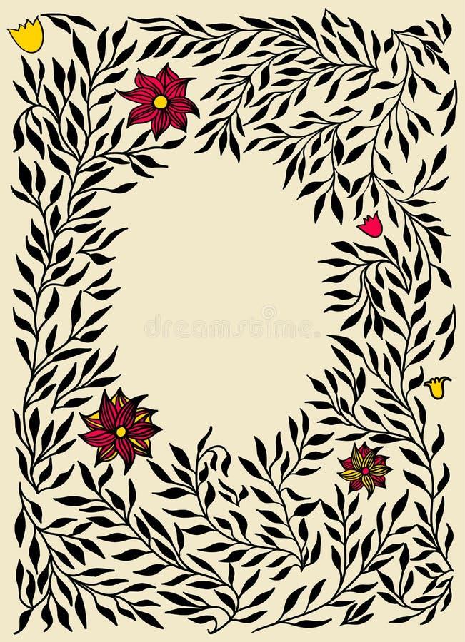 διακοσμητικός floral διανυσματικός τρύγος προτύπων απεικόνισης πλαισίων επίσης corel σύρετε το διάνυσμα απεικόνισης απεικόνιση αποθεμάτων