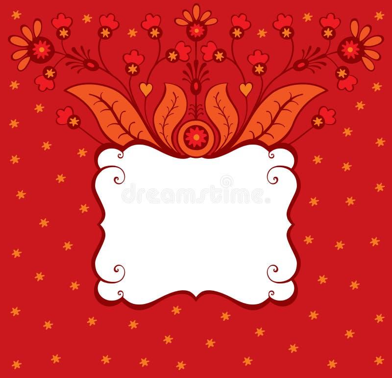 διακοσμητικός floral καρτών διανυσματική απεικόνιση