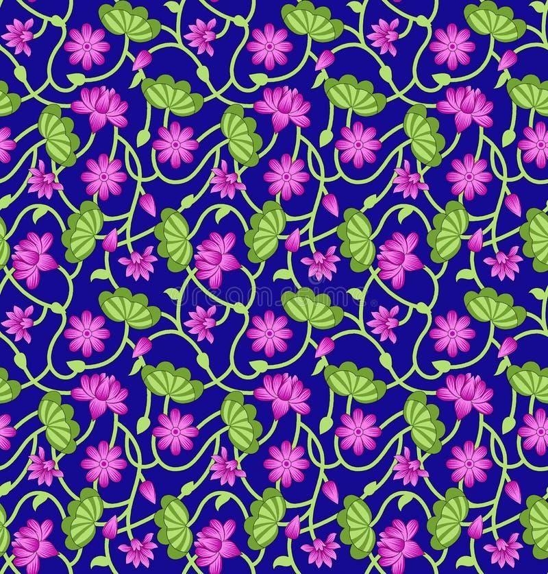 διακοσμητικό floral άνευ ραφής διάνυσμα προτύπων απεικόνισης στοκ εικόνες