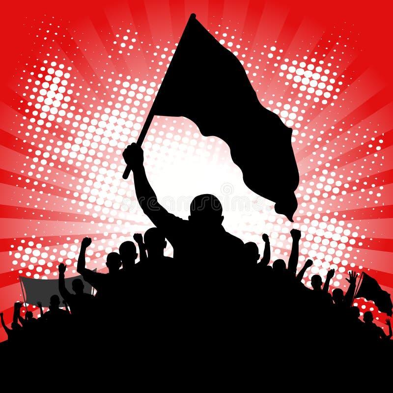 διαμαρτυρόμενοι διανυσματική απεικόνιση