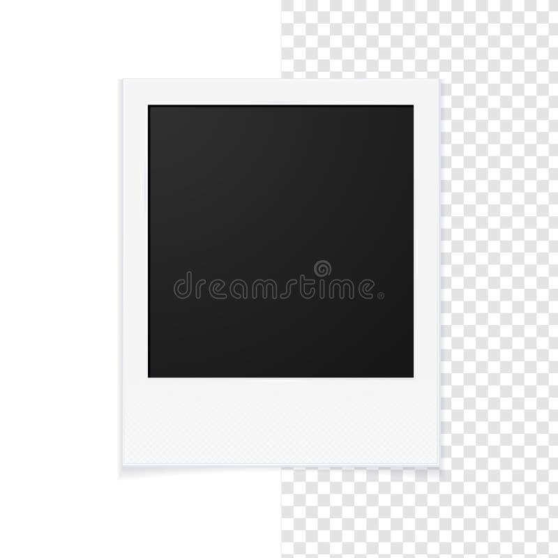 διαμορφωμένη φωτογραφία τρυπών πλαισίων ανασκόπησης όμορφη μαύρη kpugloe διάνυσμα απεικόνιση αποθεμάτων