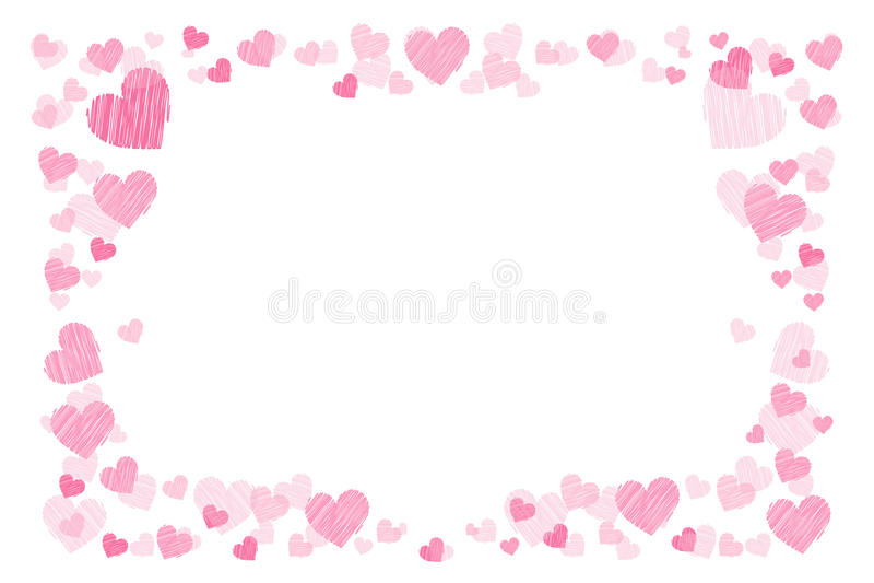 διαμορφωμένη φωτογραφία τρυπών πλαισίων ανασκόπησης όμορφη μαύρη kpugloe Καρδιές Για τους εραστές απεικόνιση αποθεμάτων