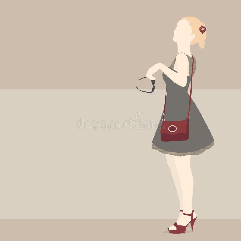 διαμορφώστε το κορίτσι ελεύθερη απεικόνιση δικαιώματος
