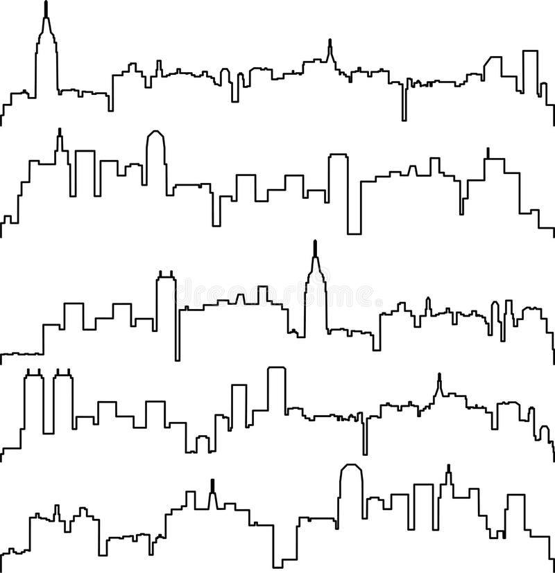 διανυσματικά περιγράμματα των κτηρίων απεικόνιση αποθεμάτων