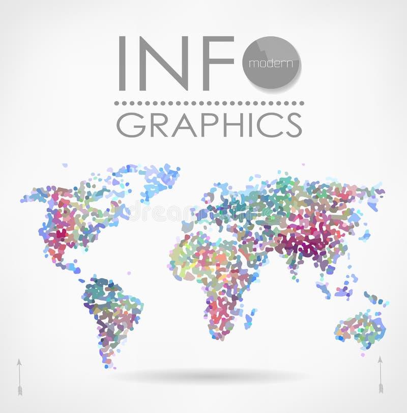 διανυσματικός άσπρος κόσμος χαρτών ανασκόπησης απομονωμένος απεικόνιση απεικόνιση αποθεμάτων