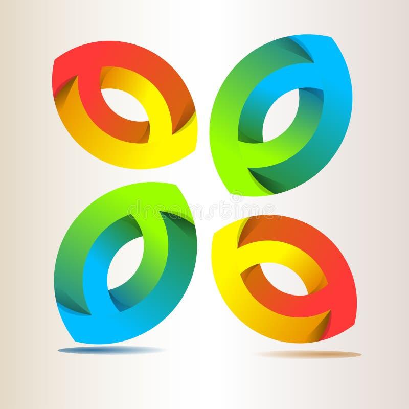 διανυσματικός Ιστός λογότυπων σφαιρών απεικόνιση αποθεμάτων