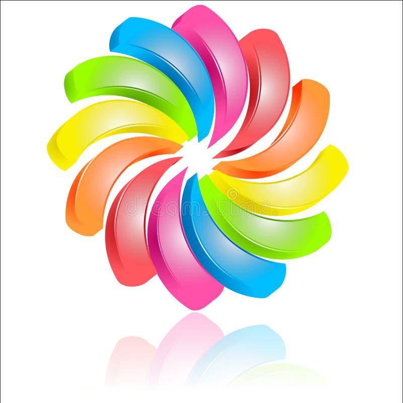 διανυσματικός Ιστός λογότυπων σφαιρών διανυσματική απεικόνιση