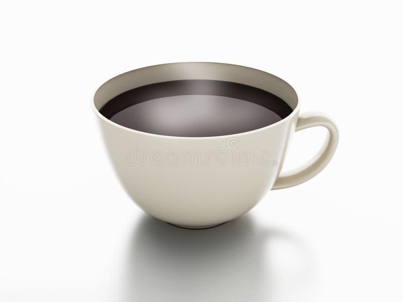 διανυσματικό λευκό πλέγματος απεικόνισης φλυτζανιών καφέ ανασκόπησης ελεύθερη απεικόνιση δικαιώματος