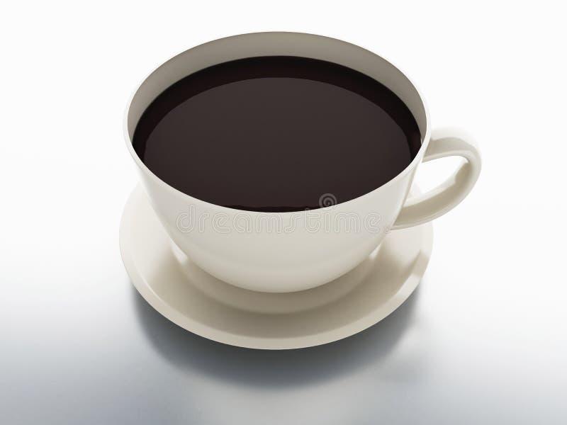 διανυσματικό λευκό πλέγματος απεικόνισης φλυτζανιών καφέ ανασκόπησης απεικόνιση αποθεμάτων