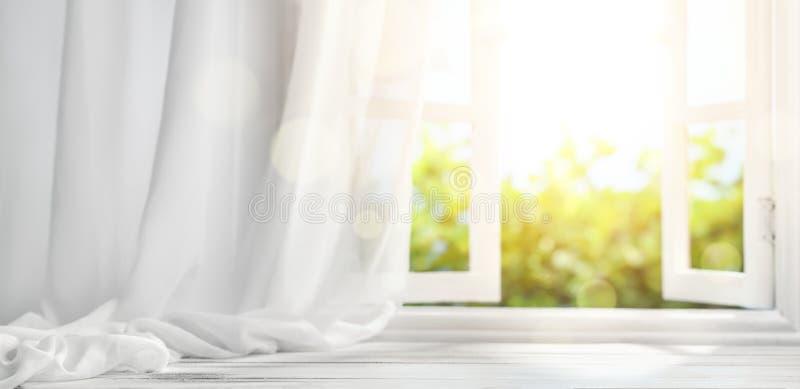 διανυσματικό παράθυρο απεικόνισης κουρτινών στοκ εικόνα