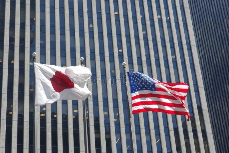 Ιαπωνία και οι Ηνωμένες Πολιτείες στοκ φωτογραφία με δικαίωμα ελεύθερης χρήσης