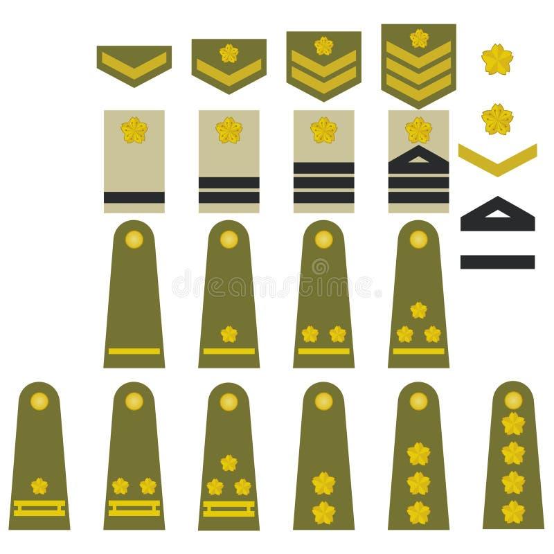 Ιαπωνικά διακριτικά στρατού διανυσματική απεικόνιση
