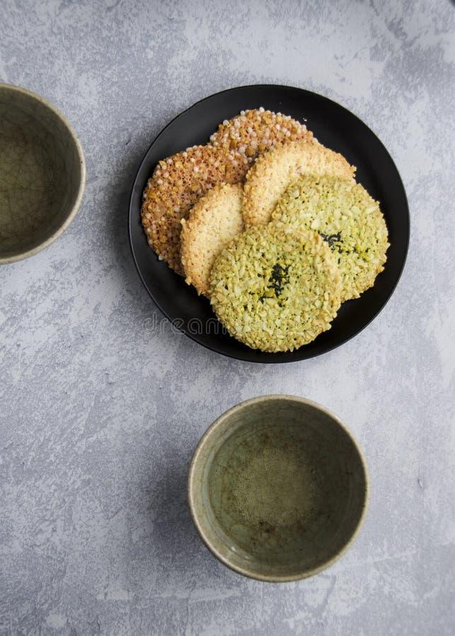 Ιαπωνικά μπισκότα τσαγιού από Japantown, SF στοκ εικόνες