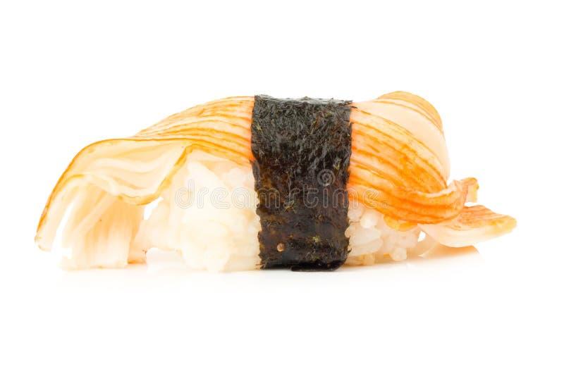 Ιαπωνικά σούσια κουζίνας ενιαίος ένας Στην άσπρη ανασκόπηση στοκ εικόνες με δικαίωμα ελεύθερης χρήσης