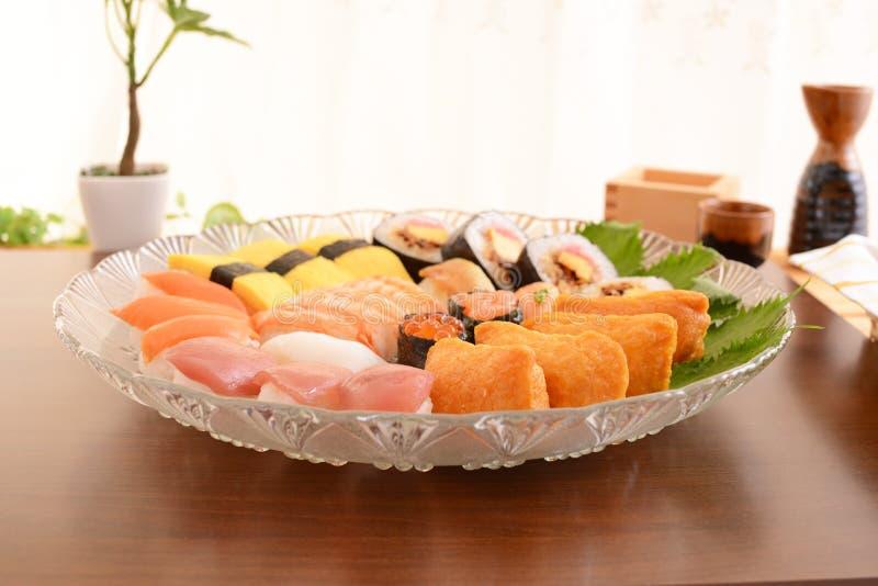 Ιαπωνικά σούσια κουζίνας στοκ φωτογραφία με δικαίωμα ελεύθερης χρήσης