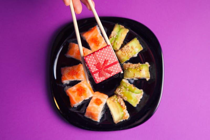 ιαπωνικά σούσια maki τροφίμων κουζίνας στοκ εικόνες