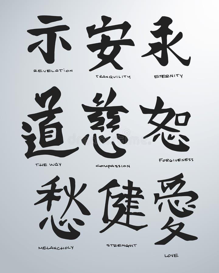 Ιαπωνικές έννοιες α απεικόνιση αποθεμάτων