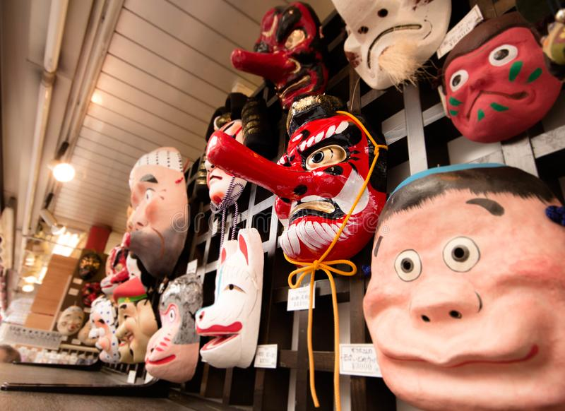 Ιαπωνικές μάσκες στοκ εικόνα