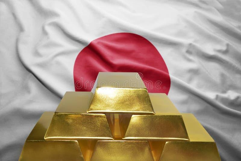 Ιαπωνικές χρυσές επιφυλάξεις στοκ εικόνα